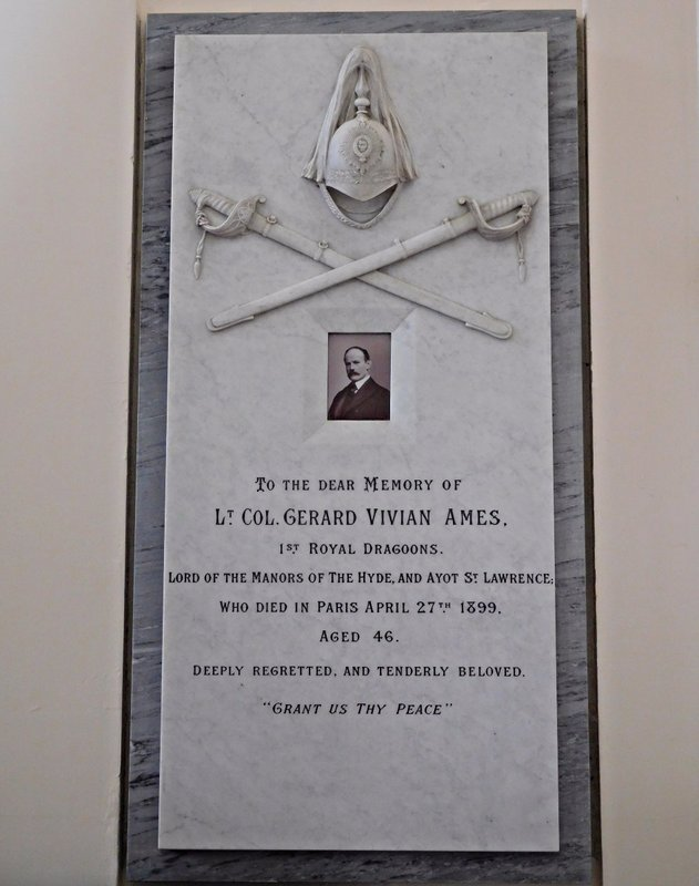 St Lawrence Church: Ames memorial