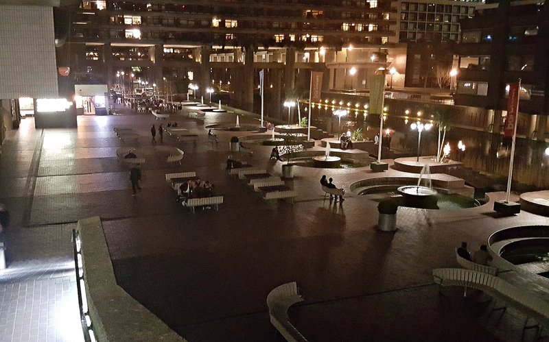 Barbican: piazza and 'pond'