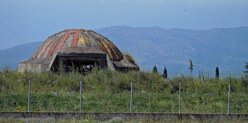 Near Koplik: a painted bunker. 2016