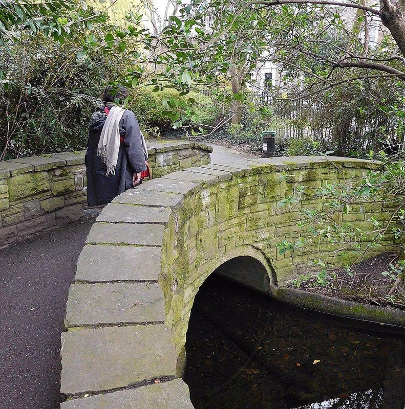 NEW RIVER WALK:  curved bridge near Marquess Tavern