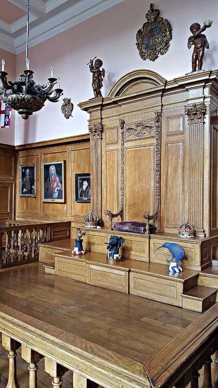 Former judges' 'throne' in College of Arms