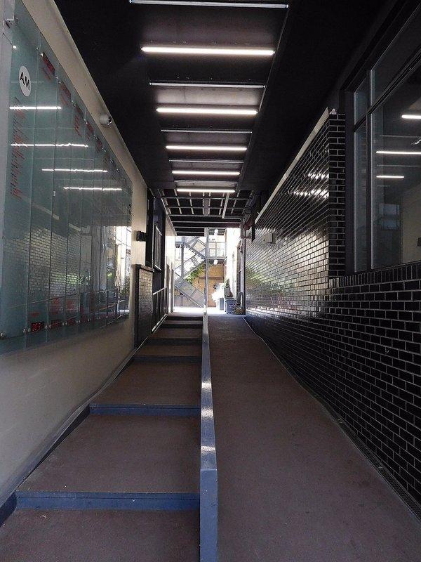 Former  London School Board stores: modifiedentrance
