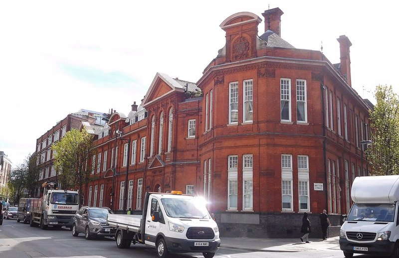 Clerkenwell Road: old Holborn Union offices