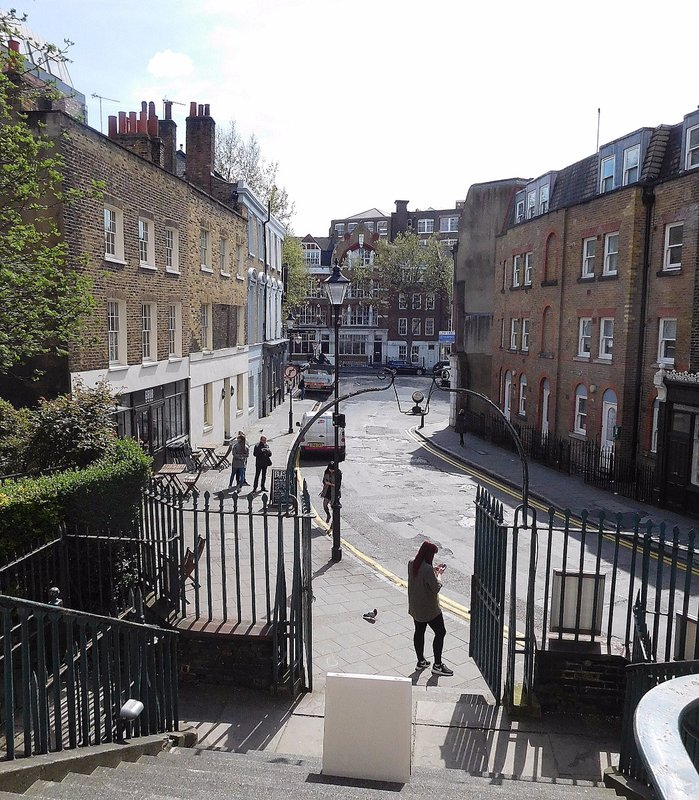 View of Clerkenwell Green from St James Church