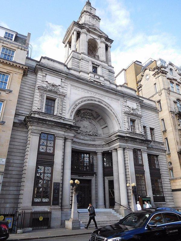 Curzon Street: Church of Christ Scientist: facade