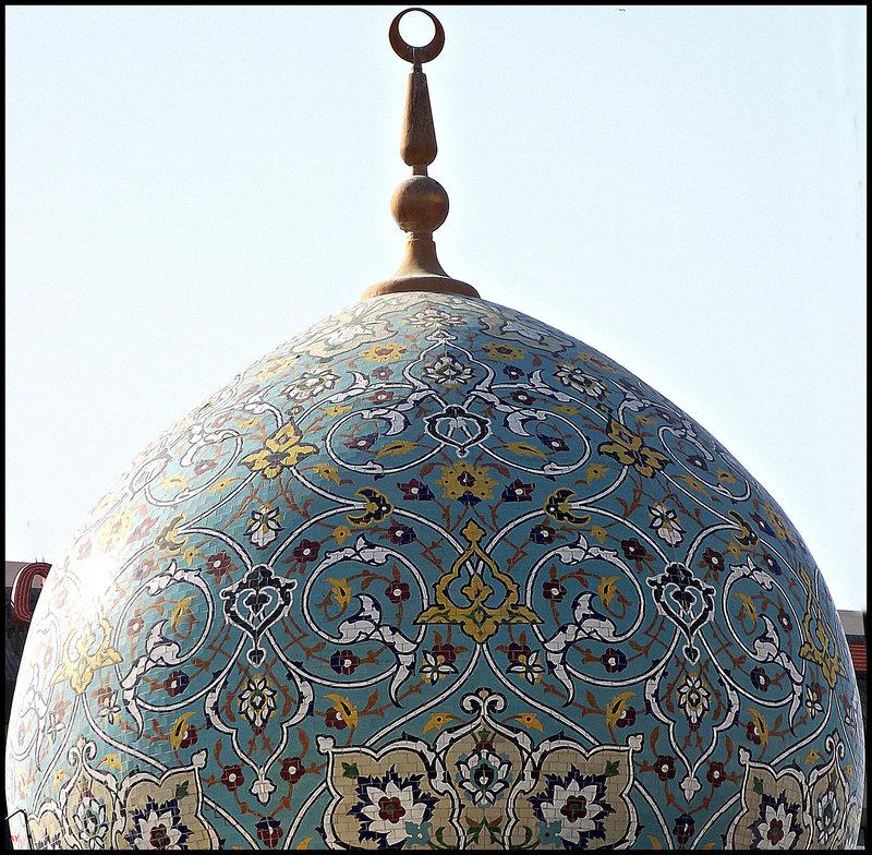 Dubai: decorated mosque dome