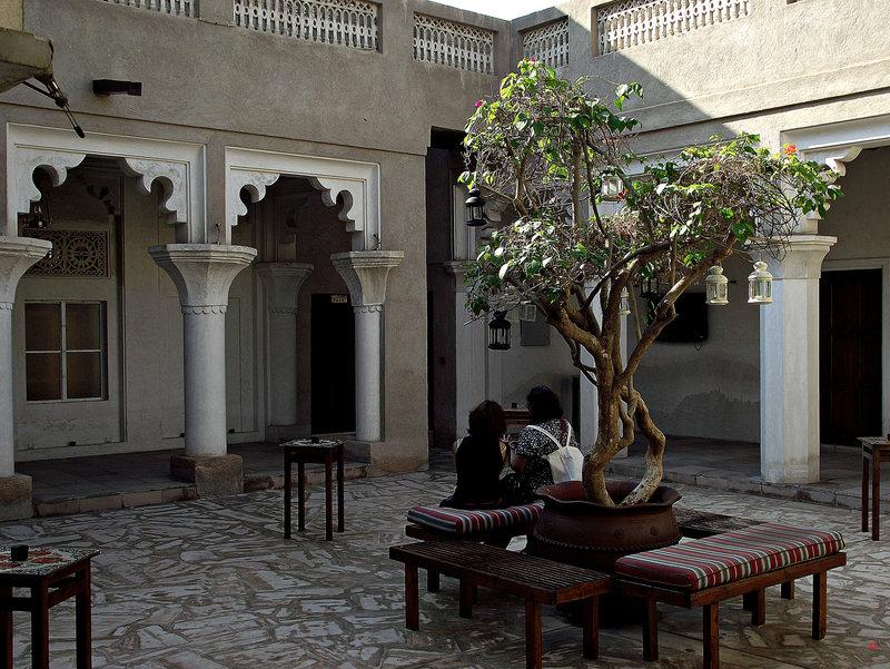 Dubai: a shady courtyard