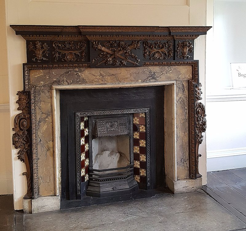 Bruce Castle: a fireplace