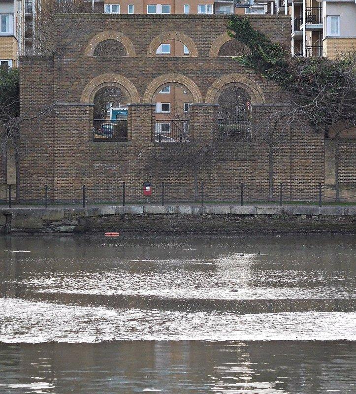 East India Dock Basin:  looking west
