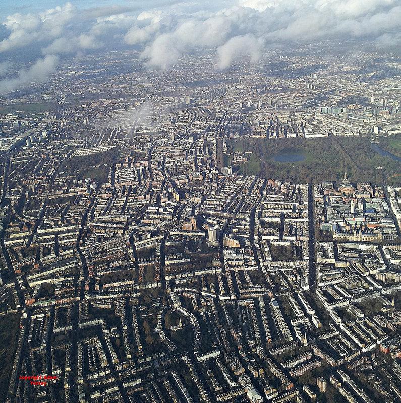 Birds eye view of Kensington Gardens (London)