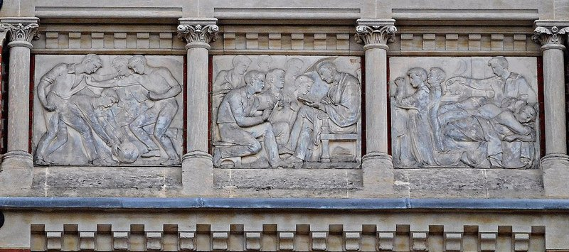 Highgate: Big School frieze