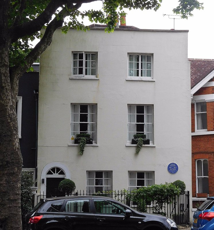 Dickens lived here in 1832: North Hill Highgate