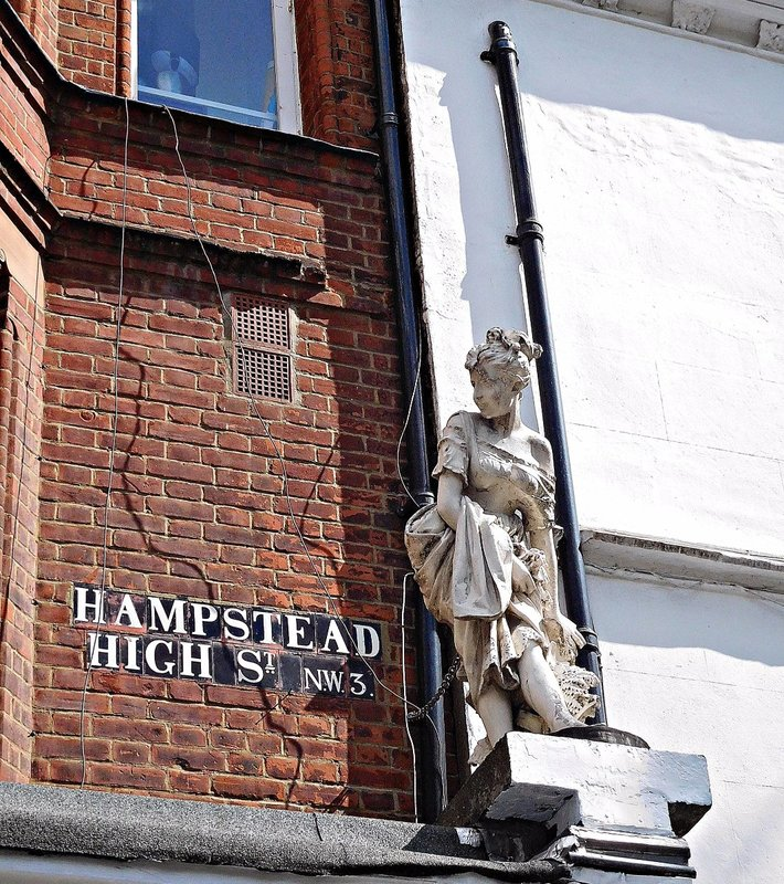 Hampstead High Street statue