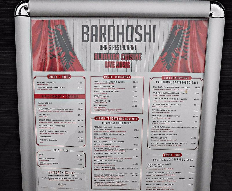 Bardhoshi Albanian restaurant Green Lanes