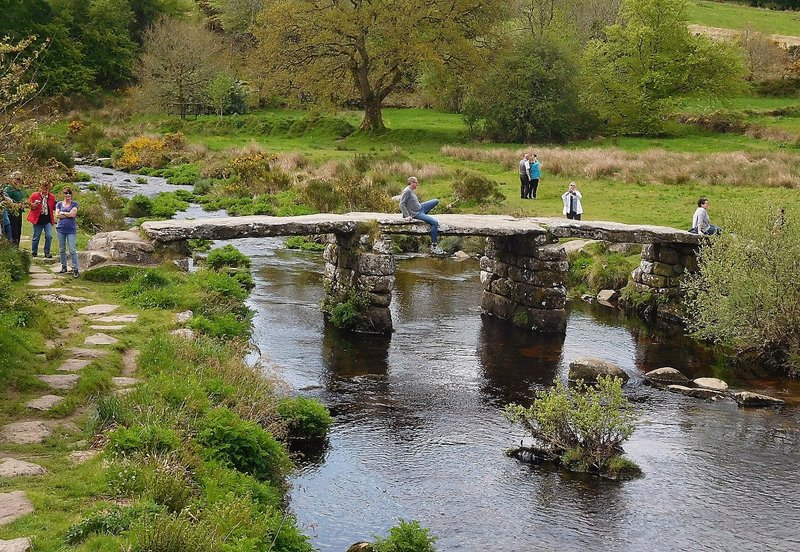Postbridge (Dartmoor): Clapper Bridge