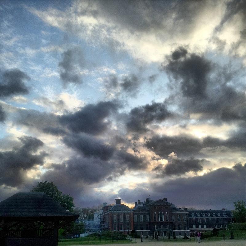 Kensington Palace cloudscape