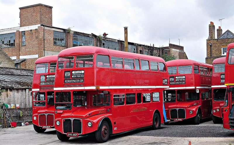 Routemasters for hire on Dock Road Bentford