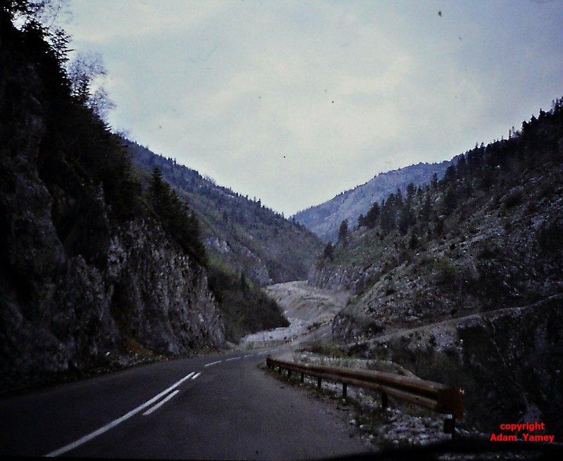PEC to ROZAJ 1990 the road from Kosovo to Montenegro
