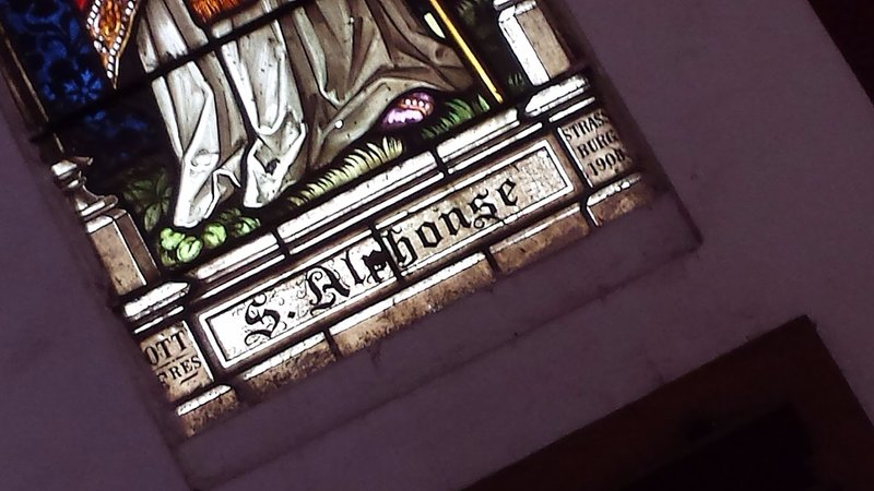 Sacre Coeur Church. Glass made in Strassburg in German occupied Alsace ( now, Strasbourg in France)