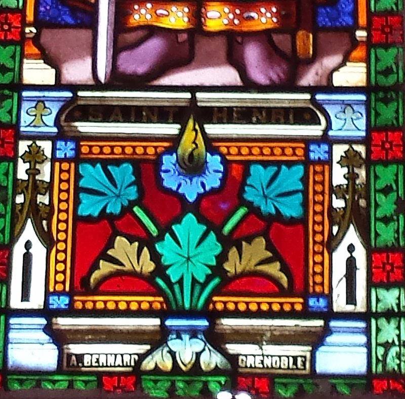 Sacre Coeur Church. Glass made in Grenoble (France)