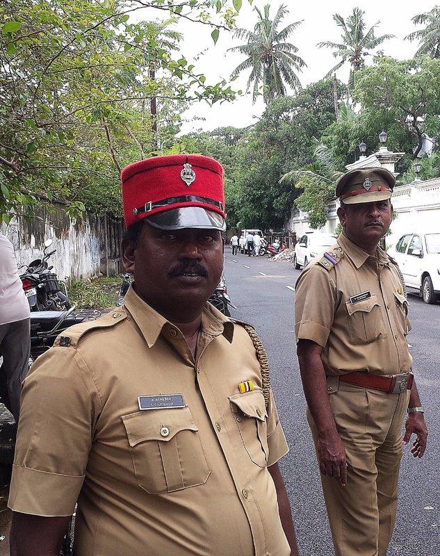 Policeman in a képi