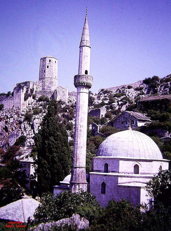 POCITELJ 1975:   Dome, minaret, and castle
