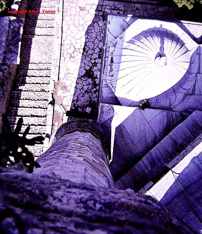 POCITELJ 75 Looking down a minaret