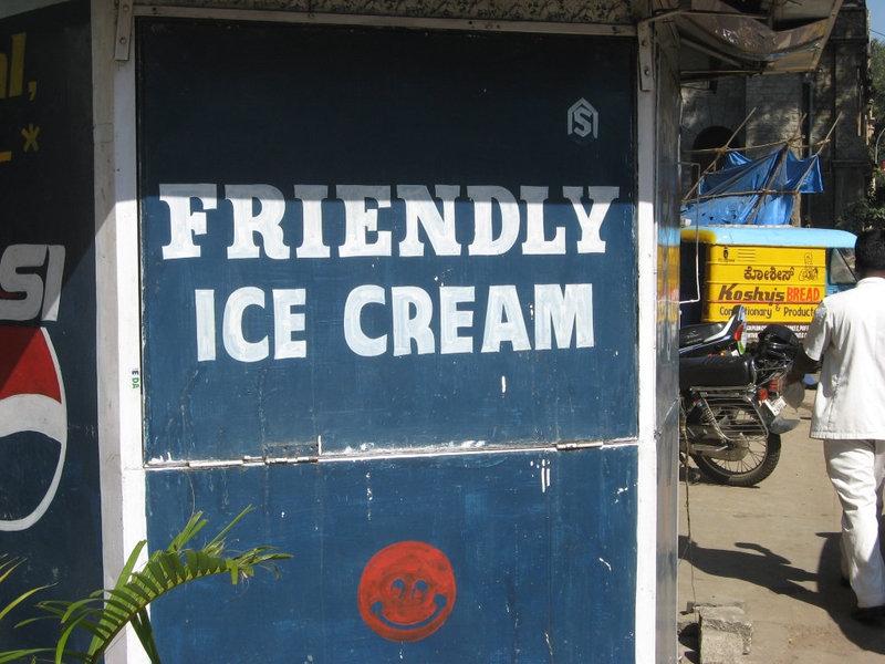Outside Koshy's in Bangalore