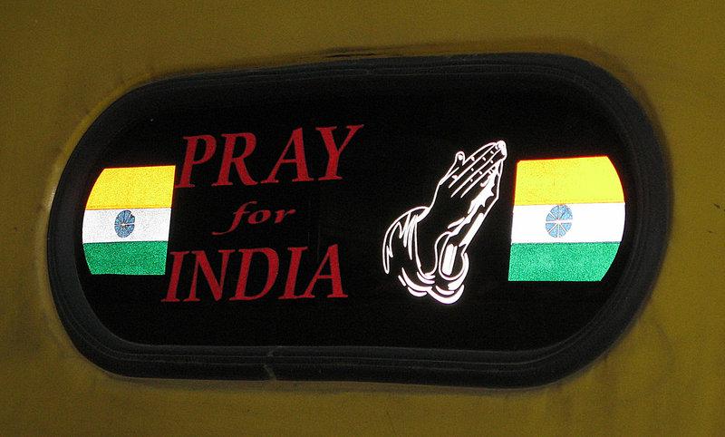 Pray for India. Autorickshaw in Bangalore