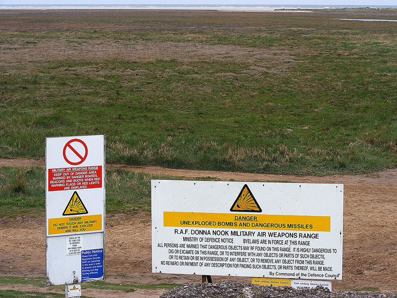 Caution!  Mablethorpe Lincolnshire