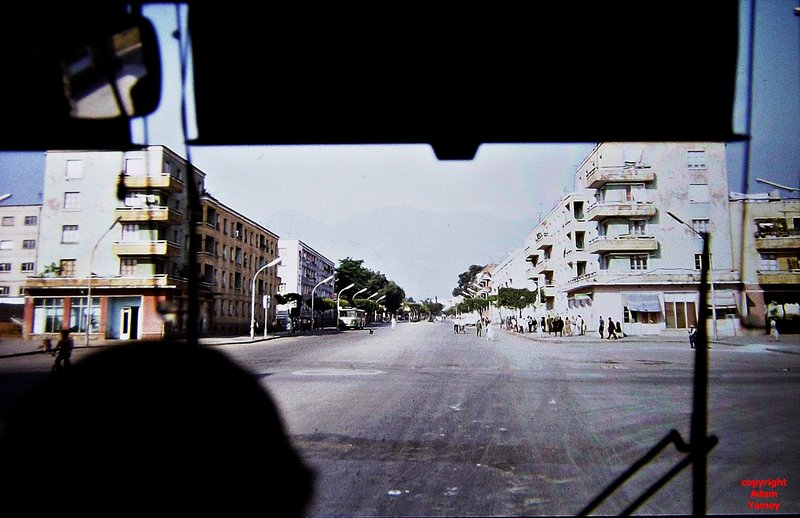 TIRANA 1984 Red traffic signal but no traffic!