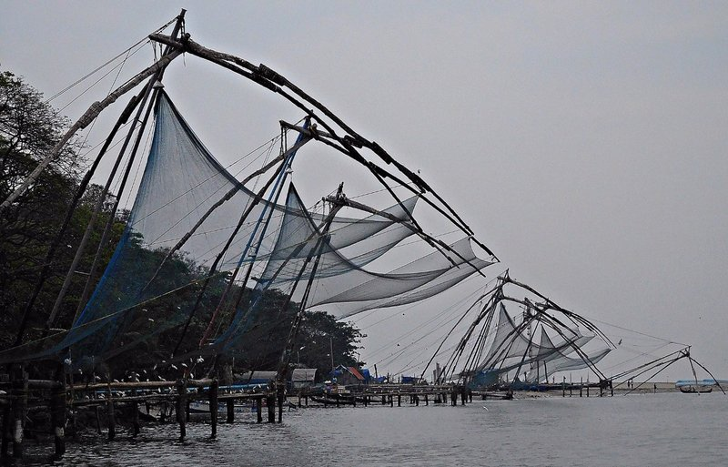 Chinese fishing nets at Fort Cochin
