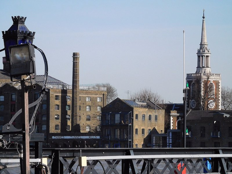 "WAPPOL 4 Marine Policing Unit: view of Rotherhithe and departure point of the ""Mayflower"""