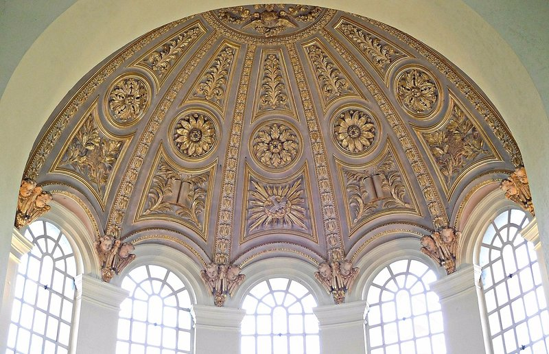St George in the East; apse ceiling