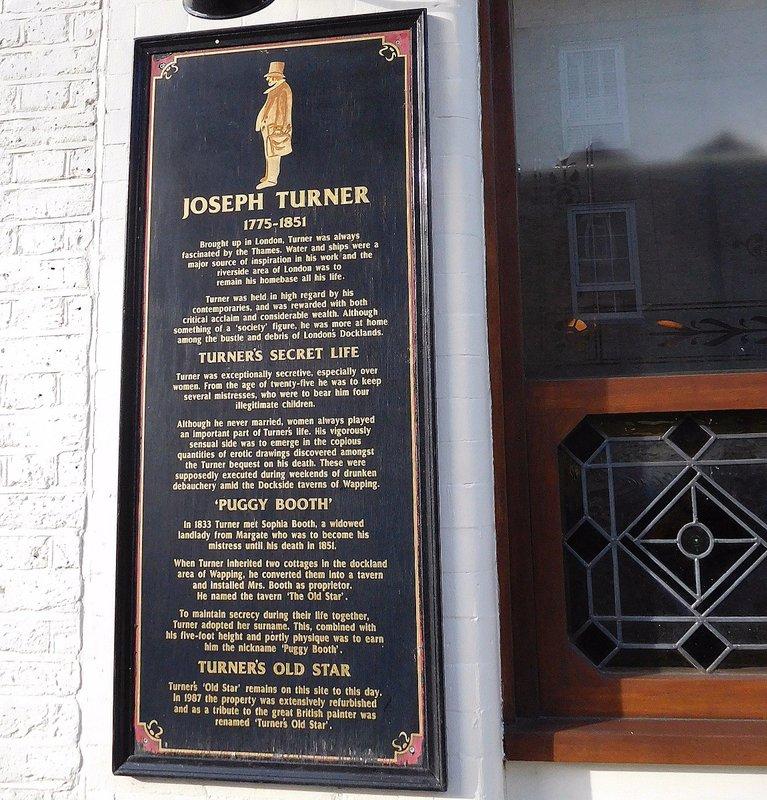 Turners Old Star: Turner plaque