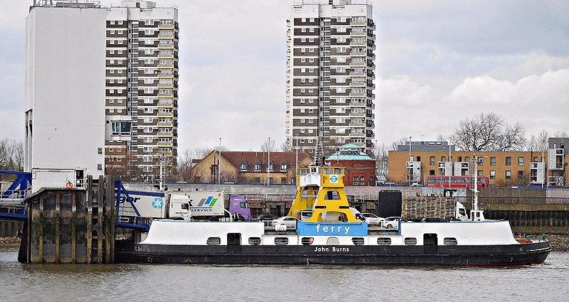 Woolwich Free Ferry loading at North Woolwich