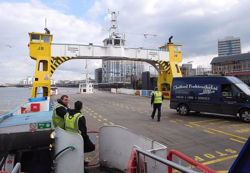 Woolwich Free Ferry: Vehicle deck