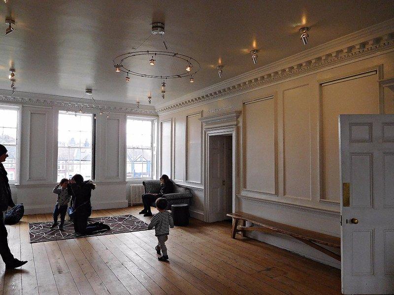 William Morris Gallery: upstairs  (first floor) landing