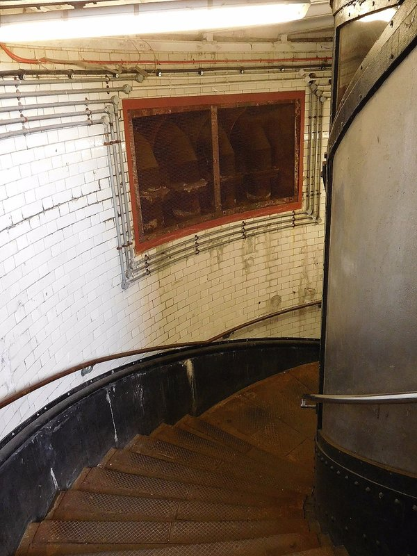 Woolwich Foot Tunnel: North staircase