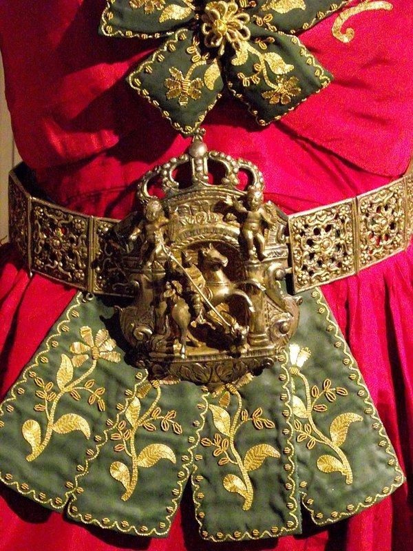 Arberesh (Sicilian Albanian) costume in museum in Piana degli Albanesi