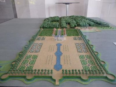 Model of the baroque garden - Rastatt