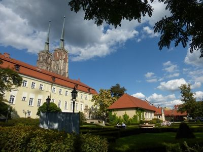 Baroque Gardens behind the Canons' Houses - Wroclaw