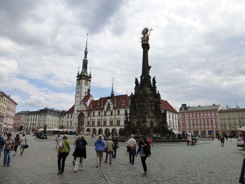 Upper square, town hall and trinity column - Olomouc