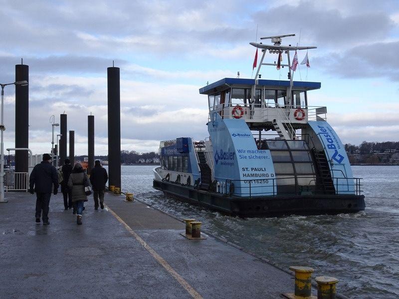 Changing ferries at Finkenwerder - Hamburg