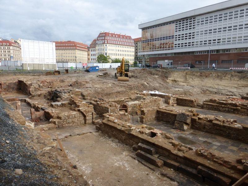 Excavations behind Kulturpalast, 2013 - Dresden