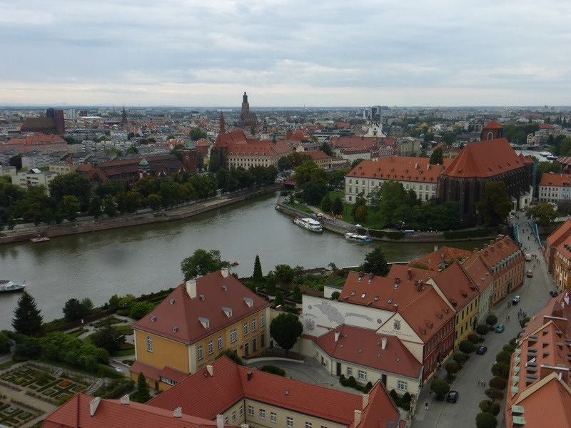 View from the steeple of the cathedral- Wroclaw