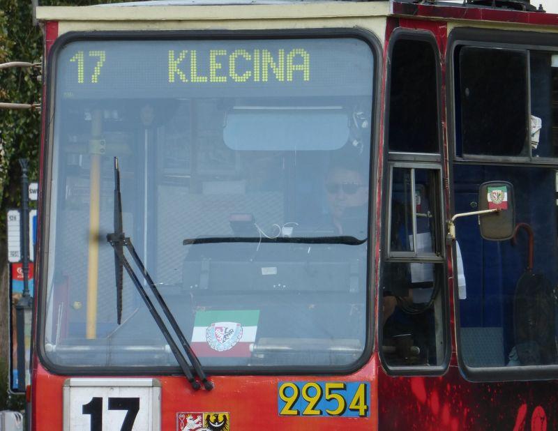 Śląsk stickers on a tram - Wroclaw