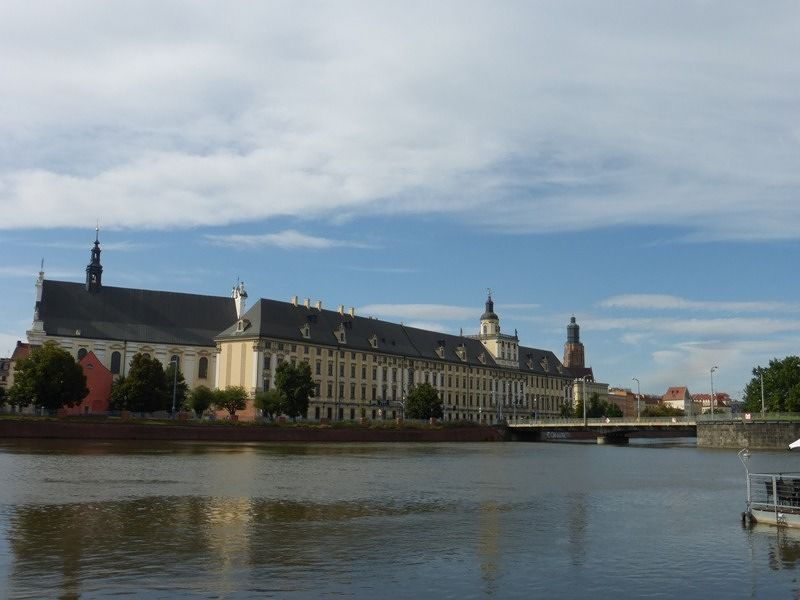 View towards the university - Wroclaw