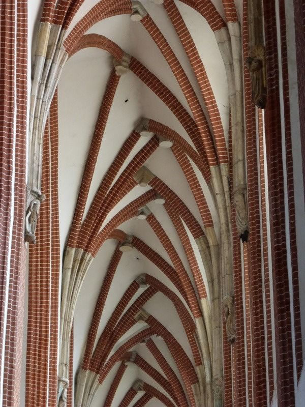 Vaults in the side nave - Wroclaw