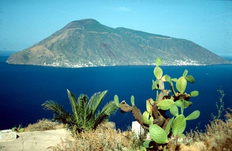 Salina seen from Lipari - Sicilia